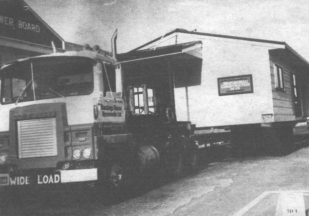 1984 transportable building - Waipukurau Construction