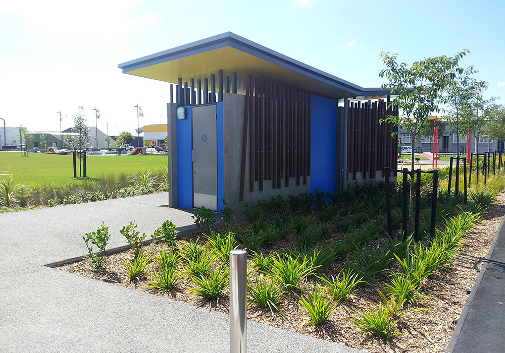 Hastings Skate Park – Public Toilet outside - Waipukurau Construction
