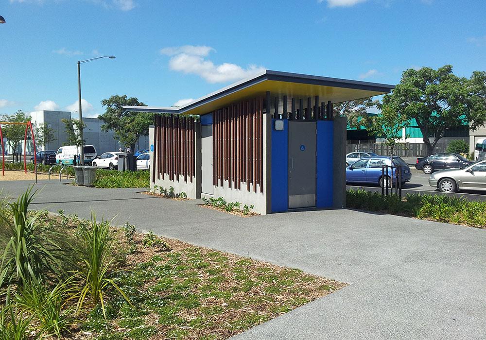 Hastings Skate Park – Public Toilet angle - Waipukurau Construction