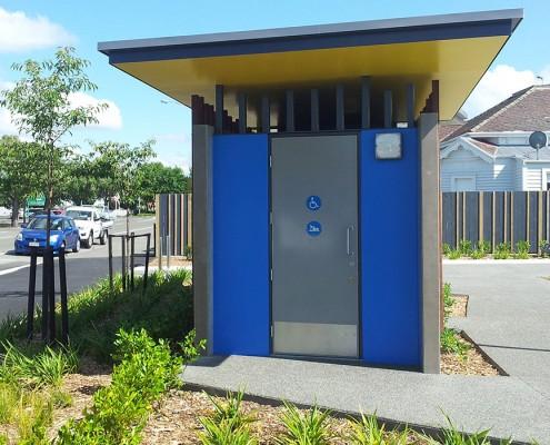 Hastings Skate Park – Public Toilet front - Waipukurau Construction