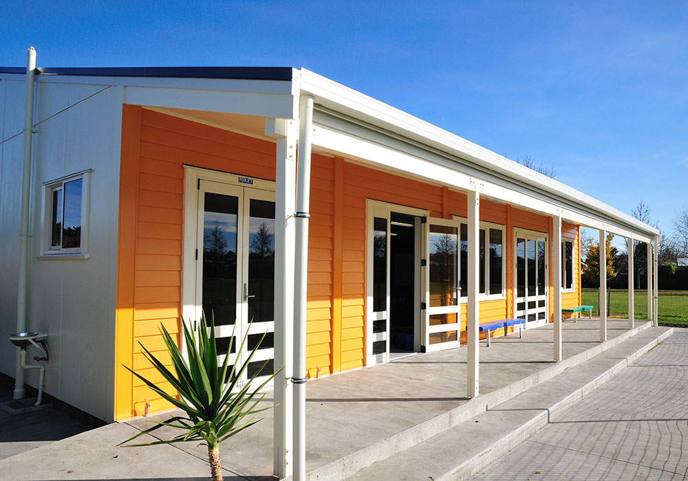 Lucknow School front – Design & Build Classroom - Waipukurau Construction