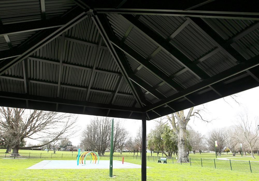 Flaxmere Park BBQ Shelter ceiling - Waipukurau Construction