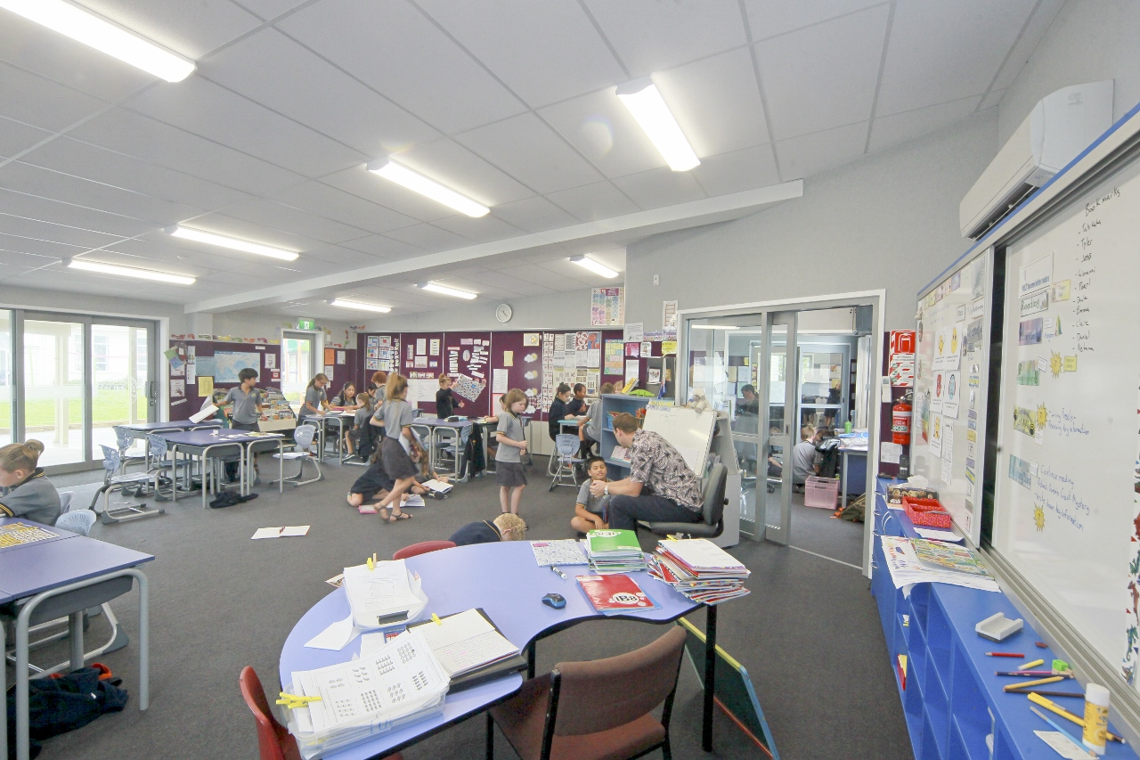 Napier Central School – New Classroom Block inside - Waipukurau Construction